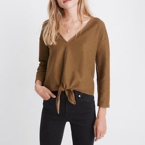 Madewell • Texture & Thread Tie-Front Top NWT